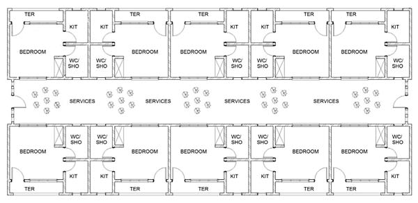 Plans of the 10 Unit Apartment